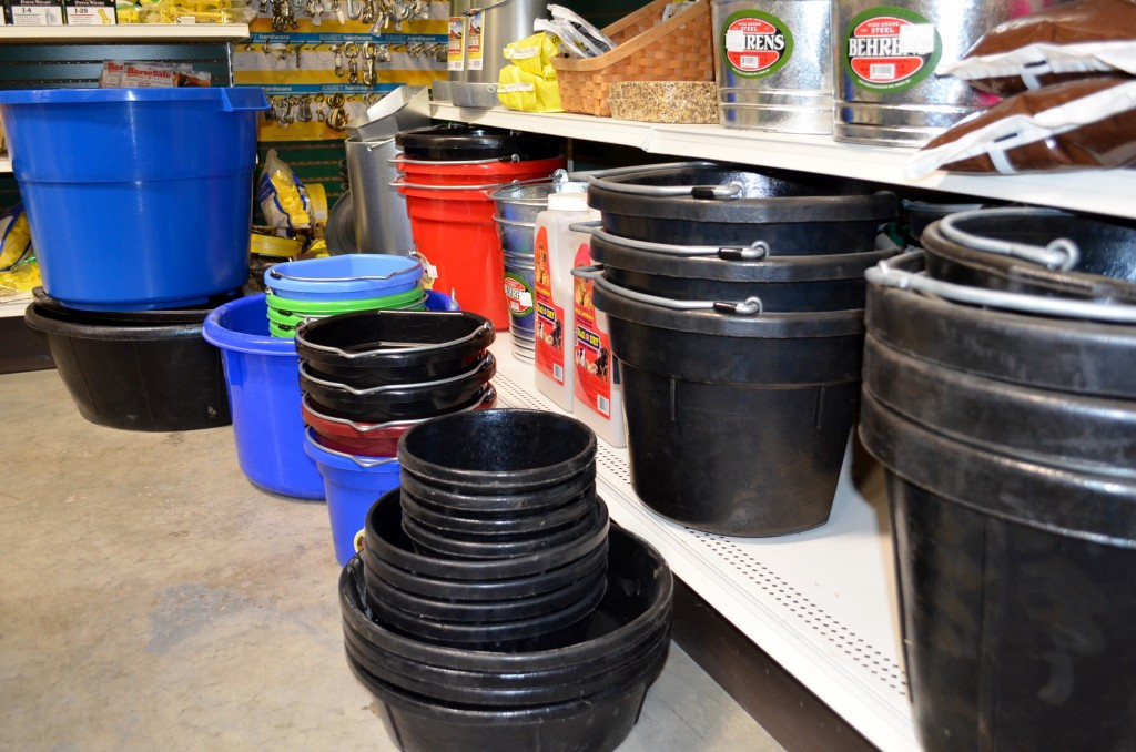 Buckets for your farm store